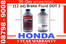 Genuine OEM Honda Brake Fluid Bottle 12 Ounces oz. 08798-9008 DOT 3 Ounce