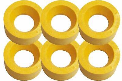 Power Feeder Wheels - Polyurethane - 120x60mm - Set Of 6 Ru120 For 1hp Motors