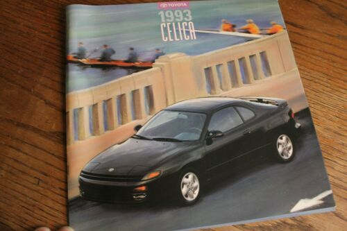 1993 Toyota Celica huge prestige color sales brochure, 11x11., 16 page.