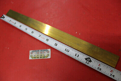 18 X 1 C360 Brass Flat Bar 14 Long Solid Plate Mill Stock H02 Half Hard