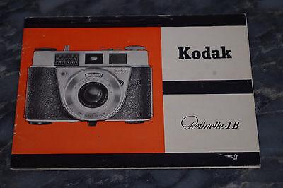 Bedienungsanleitung Kodak Retinette IB 1B I B I-B 1-B Gebrauchs Anleitung