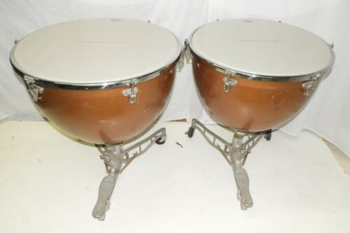 "Ludwig Universal Timpani Drums 26 and 29"" New Remo Heads with Covers"