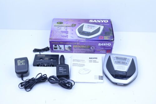 Vintage Sanyo CDP-4000CR CD Player AM FM Mobile 3D With Box