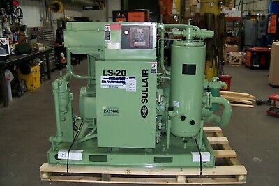 Sullair Ls20 100 Hp. Rotary Screw Air Compressor Air Cooled 175-185 Psi