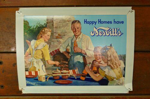 Vintage 1940's Happy Homes Have Nesbitt's Orange Soda Cookout Cardboard Sign
