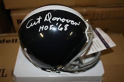 BALTIMORE COLTS ART DONOVAN #70  SIGNED TB MINI HELMET HOF 1968 JSA WHITE Art Donovan Signed Baltimore Colts