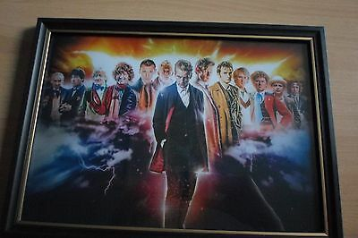 Doctor Who all 13 regenerations framed print