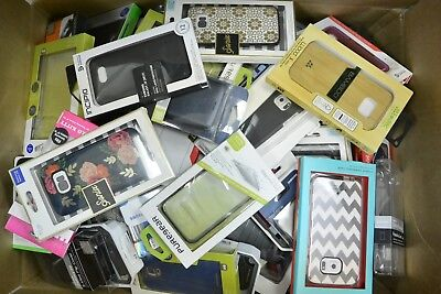 Lot of 100 New Retail Package Assorted Phone Cases for Samsung Smartphones