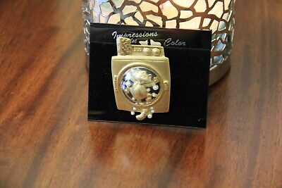 AJC pin Brooch Vintage New Cat in washing machine gold tone faux pearl bubbles   for sale  Shipping to Nigeria