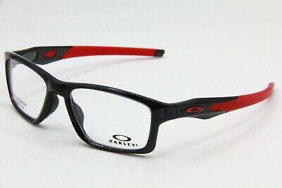 NEW OAKLEY OX8090-0355 BLACK CROSSLINK AUTHENTIC EYEGLASSES FRAME RX 55-17
