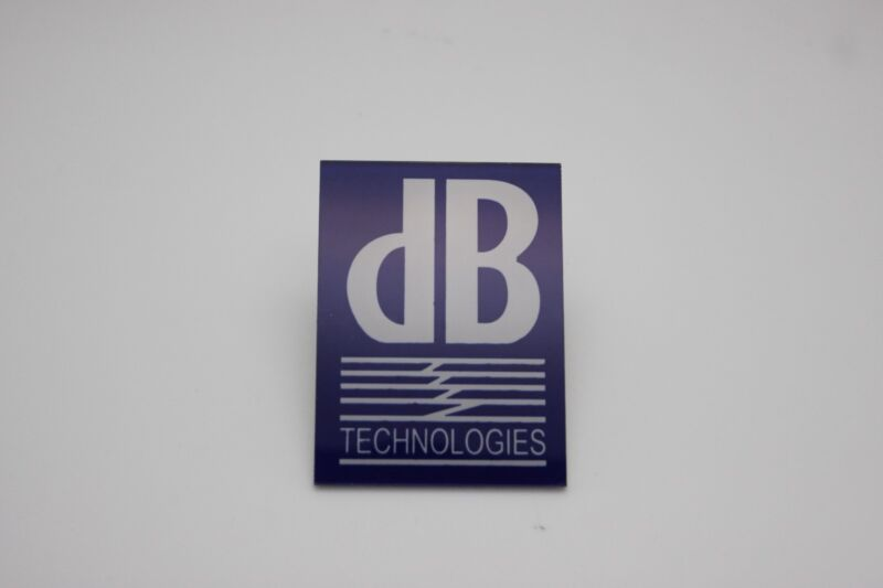 For Replacement dB Technologies Plastic Logo Badge - Adhesive