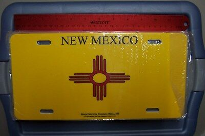 NOS New Mexico State Flag License Plate  * Nice Graphic Design & Heavy Duty Tag*
