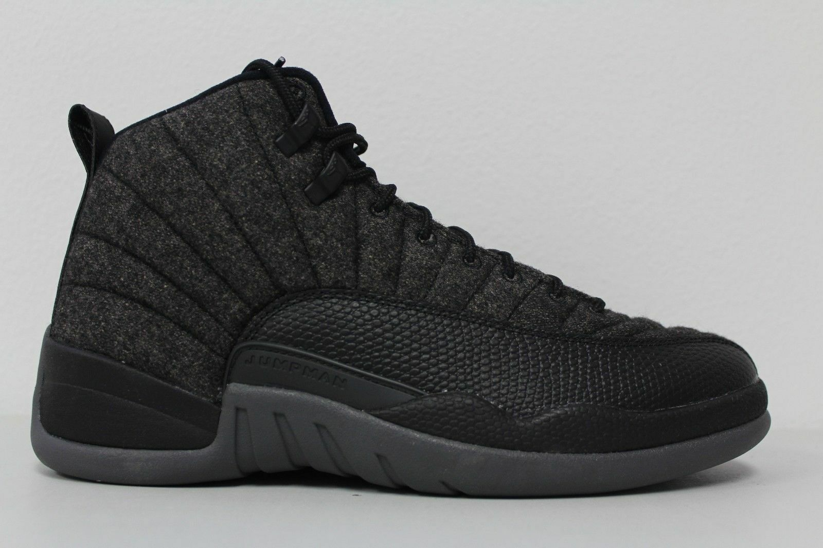 a326328c24f318 Nike Air Jordan 12 Retro Wool (852627-003) Men s Shoes - Dark  Grey Black Metallic Silver