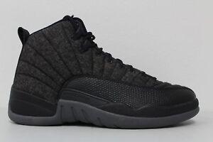 8560b0c71 Nike Air Jordan 12 Retro Wool (852627-003) Men s Shoes - Dark Grey Black Metallic  Silver