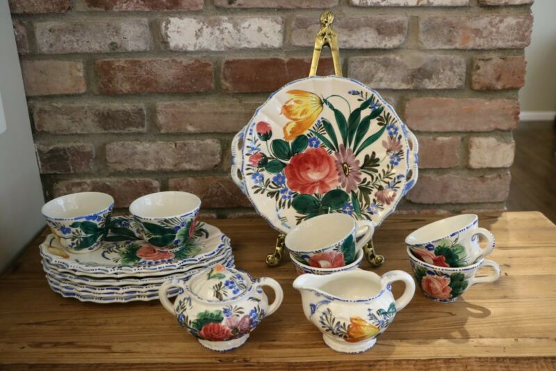 Vintage Italian Hand Painted dishes