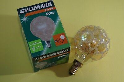 Sylvania  Mini Globelampe  E 14 G60 Kroko Gold 60 Watt Glühlampe Glühbirne (Glühbirne Sylvania)