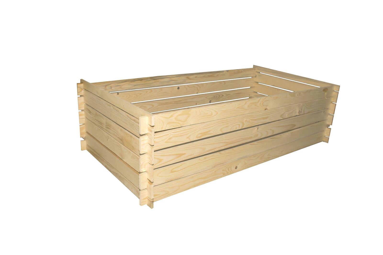 Hochbeet 100 X 100 X 30 Holzkomposter Krauterbeet Vlies Stecksystem