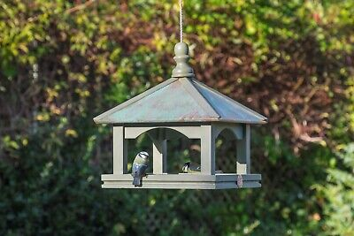 Hanging Classic Bird Table With Copper Roof