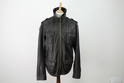 SUPERDRY Brad Leather Jacket size XL