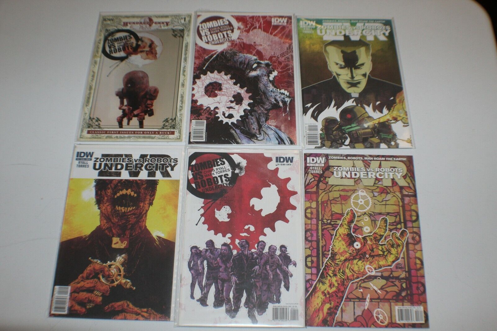 Zombies Vs Robots Variants Cover 1 / 1 B / 2 A & B 4 B 3B NM IDW