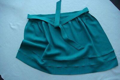 Mädchen Dirndl Schürze Länge ca. 42 cm Tracht Kostüm grün neuwertig ()