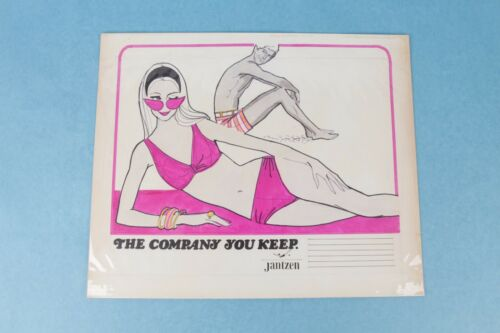 VINTAGE 1960s JANTZEN SWIMWEAR CO. HAND DRAWN ADVERTISING CAMPAIGN STORYBOARD