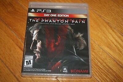 Brand New Sealed PS3 Metal Gear Solid 5 V: The Phantom Pain Day One Edition, usado comprar usado  Enviando para Brazil