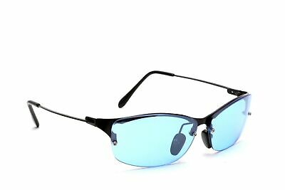 Aviator Black Metal Frame Sky Blue Lenses Sports Biking Cycling Men Sunglasses