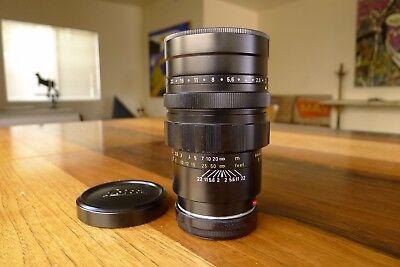 Leica Summicron M 90mm f/2 lens Black Beautiful glass CLA'D M3 M4 M6 M7 M9 M10