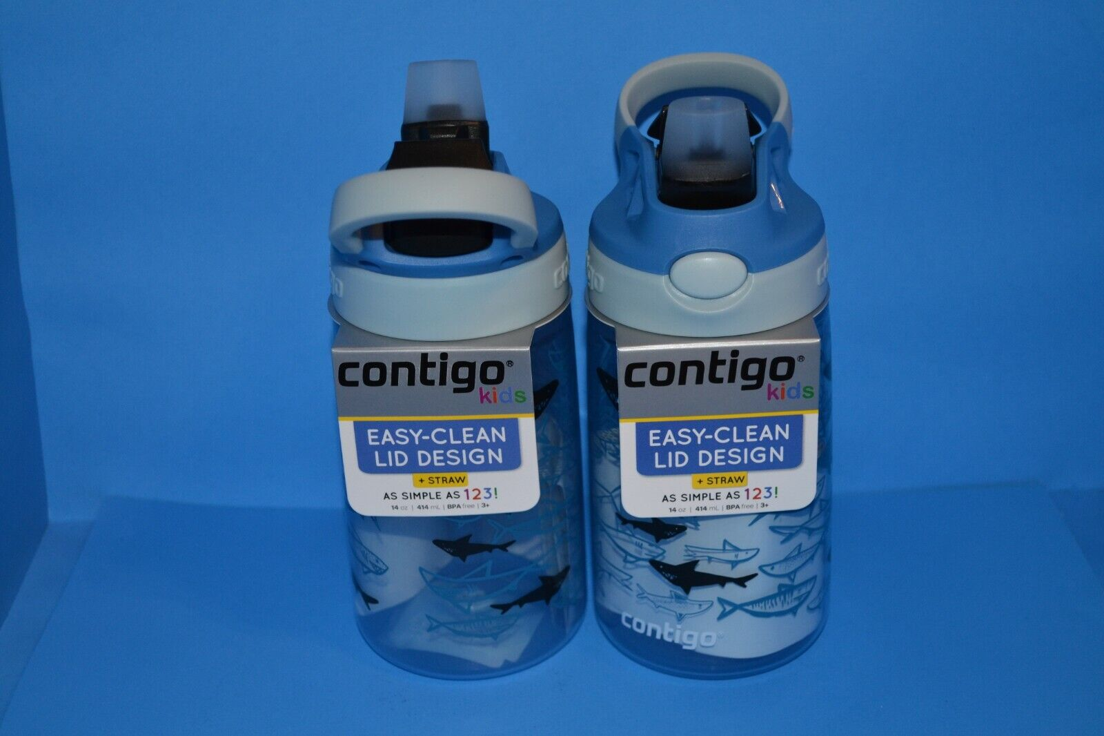 2-Pack Contigo Kids Water Bottle 14oz Spill-Proof Easy-Clean