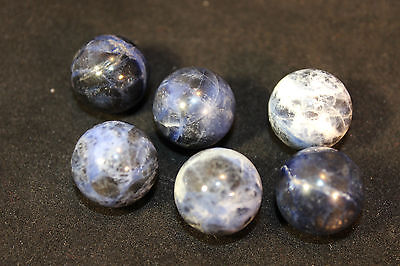 (1) Sodalite Mineral Marble Sphere 18-20mm (LISTING IS FOR 1 SPHERE!)