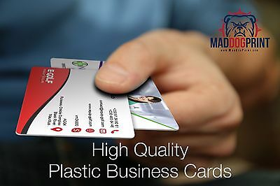 1000 Full Color 2 Sided Thick 20pt Solid Plastic Business Cards + Rounded Corner