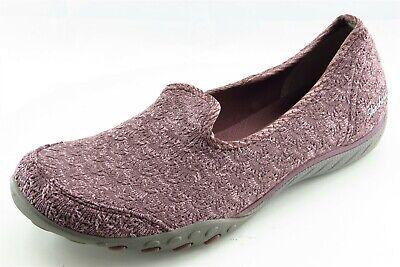 Skechers Size 8.5 M Purple Slip On Walking Fabric Wmn Shoe