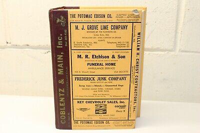 1963 Polk's City Directory for FREDERICK, MARYLAND Md. Genealogy
