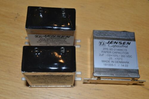 Jensen capacitor 3 x 2 uf 350 VDC Paper in oil
