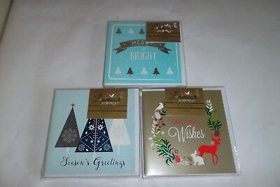 Christmas Cards Bulk Buy 3 x Packets of 10 x cards Smaller Size