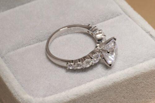 2 CT ROUND CUT DIAMOND SOLITAIRE RING 14K WHITE GOLD ENHANCED
