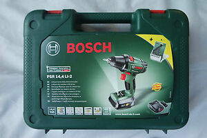 bosch akkuschrauber psr 14 4 li 2 ebay. Black Bedroom Furniture Sets. Home Design Ideas