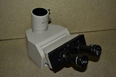 Jm Olympus Bh Trinocular Microscope Head W Mtv-3 Adapter Eyepieces De19