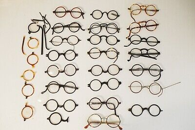 Vintage lot of eyeglasses spectacles 1920s parts lot mostly fronts (Parts Of Eyeglasses)