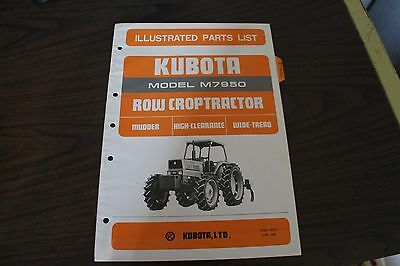 Kubota M7950 Mudder Tractor Illustrated Parts List Manual - Mudder Section Only