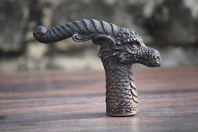 Unique Antique Look Dragon Handle for Walking Stick Cane Vintage Gentlemen Gift