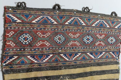 ANTIQUE CAUCASIAN MAFRASH SHAHSAVAN ARMENIAN AZERI RUG EMBROIDERY PANEL TEXTILE