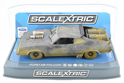 "Scalextric ""Weathered"" Mad Max Ford XB Falcon DPR W/ Lights 1/32 Slot Car C3983"
