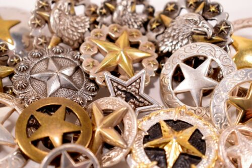 CLEARANCE SALE: STAR WESTERN CONCHOS Screwback Metal Discontinued Design 1-packs