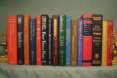 Lote Vintage Libros Decoradores Estante Azul Verde Rojo Decoración Hogar Captain
