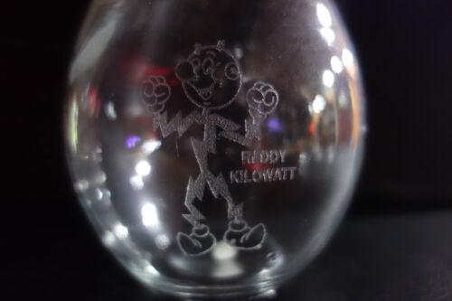 """Reddy Kilowatt LARGE 8 3/4"""" ETCHED GLASS LIGHT BULB. Excellent! A PLUS!"""