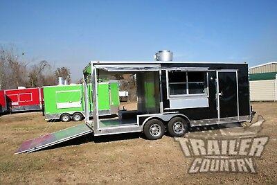 New 8.5x20 V Nose Enclosed Cargo Food Vending Trailer Mobile Kitchen