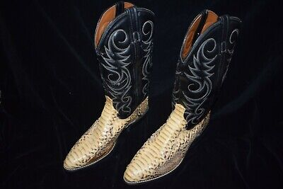 ACME Snake Skin Boots - Size 8.5D - Made in USA