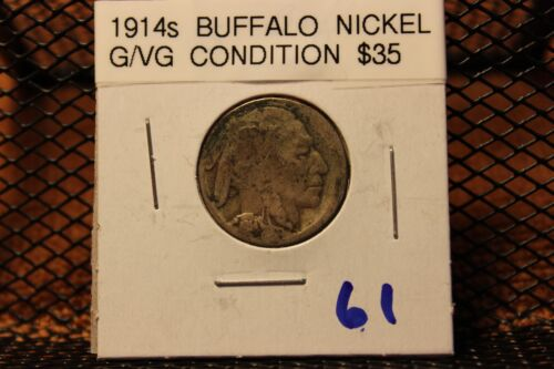 NICE OLD, BETTER DATE 1914s BUFFALO NICKEL